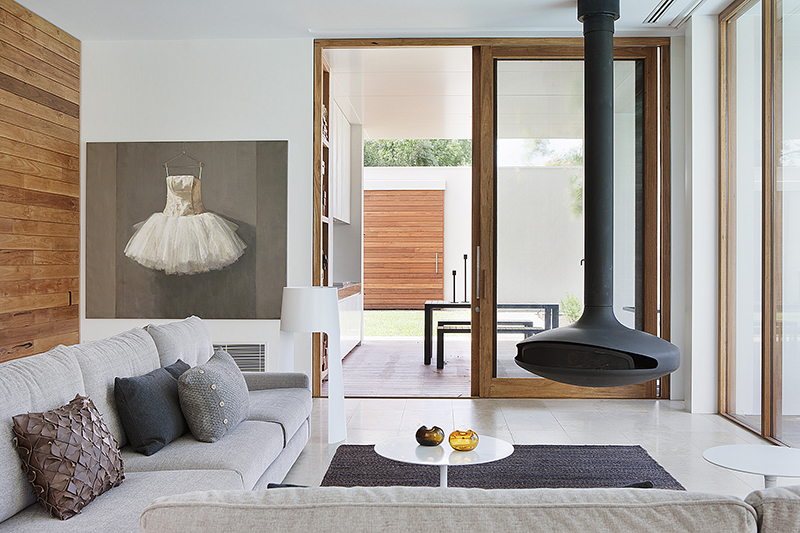 Timber doors at Rob Mills Architecture & Interiors' Kew Residence